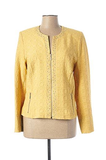 Veste casual jaune CHRISTINE LAURE pour femme