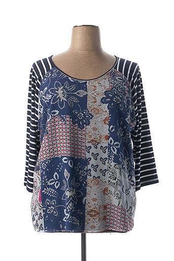 T-shirt manches courtes bleu FRED SABATIER pour femme