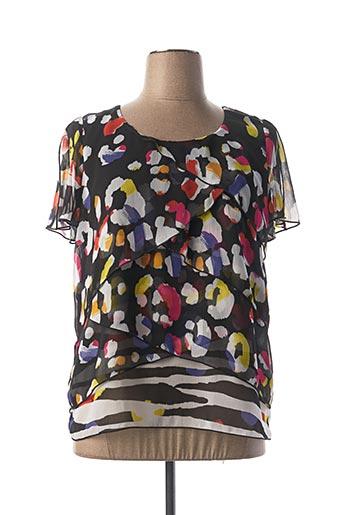 T-shirt manches courtes noir PAUSE CAFE pour femme