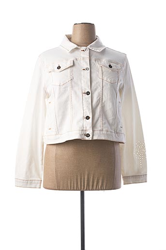 Veste en jean blanc LAUREN VIDAL pour femme