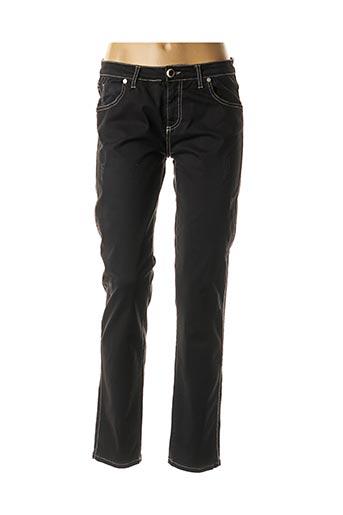 Pantalon casual noir DANIELA DALLAVALLE pour femme
