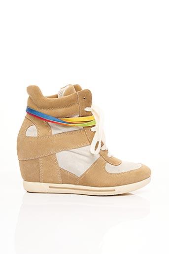 Bottines/Boots beige DONNA PIU pour femme