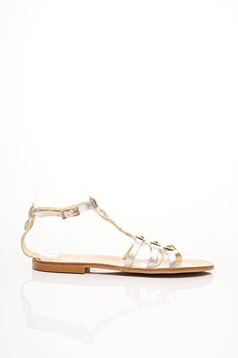 Sandales/Nu pieds gris EMMA pour femme