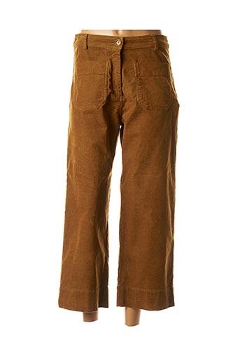 Pantalon casual marron SESSUN pour femme