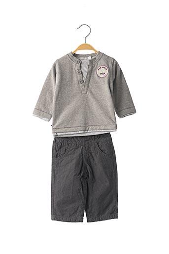 Top/pantalon gris MINI POUCE pour garçon