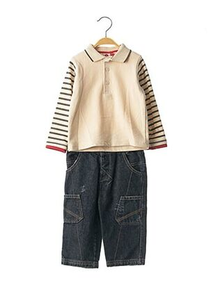 Top/pantalon beige KITI WATT pour garçon