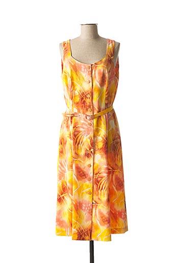 Robe mi-longue orange FRANCOISE pour femme