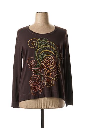 T-shirt manches longues marron JEAN GABRIEL pour femme