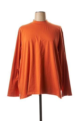 T-shirt manches longues orange JEAN GABRIEL pour femme