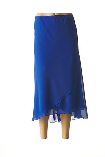 Jupe longue bleu JEAN DELFIN pour femme