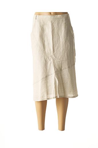 Jupe mi-longue beige JEAN GABRIEL pour femme