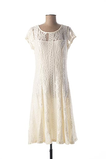 Robe mi-longue beige GEORGEDÉ pour femme