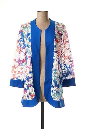 Veste casual bleu GEORGEDÉ pour femme