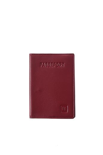 Porte-carte rouge HEXAGONA pour femme