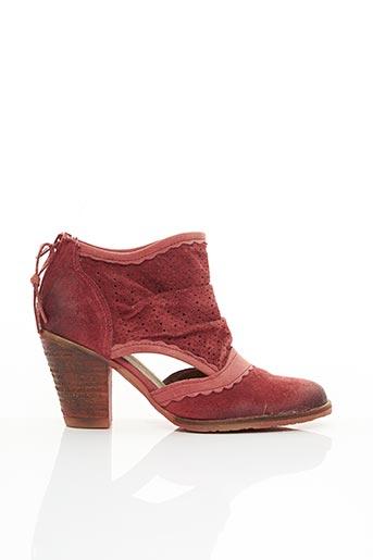 Bottines/Boots rouge DKODE pour femme