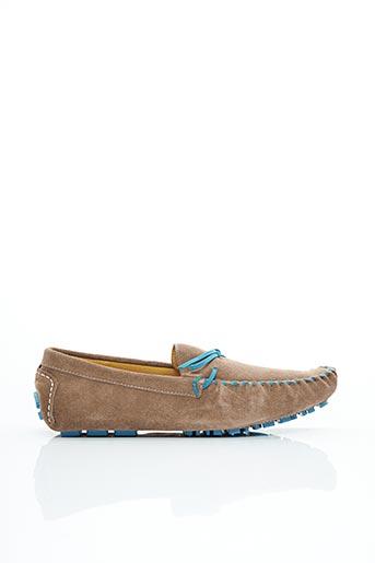Chaussures bâteau beige KDOPA pour homme