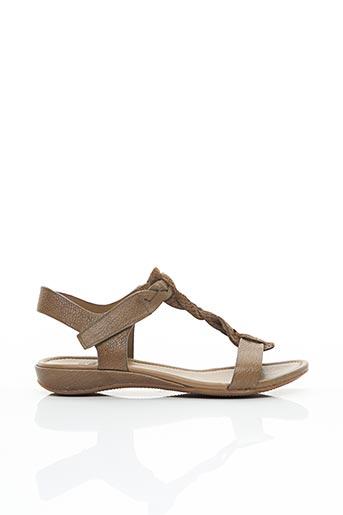 Sandales/Nu pieds beige ECCO pour femme