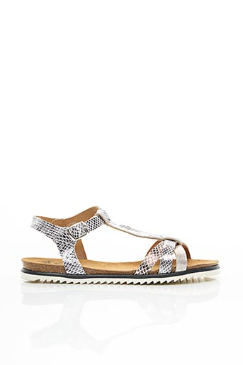 Sandales/Nu pieds gris AYOKA pour femme
