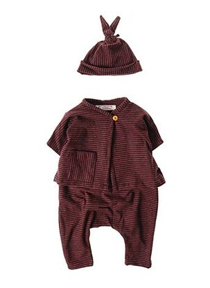 Combi-pantalon marron LOULETTE pour enfant
