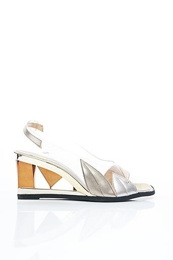 Sandales/Nu pieds gris CHARLES LABELLE pour femme