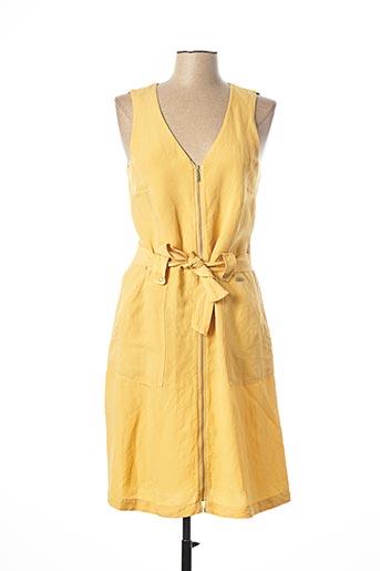 Robe mi-longue jaune MAE MAHE pour femme