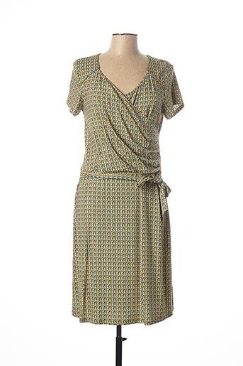 Robe mi-longue vert MAE MAHE pour femme