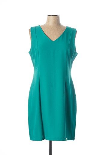 Robe mi-longue vert PAUL BRIAL pour femme