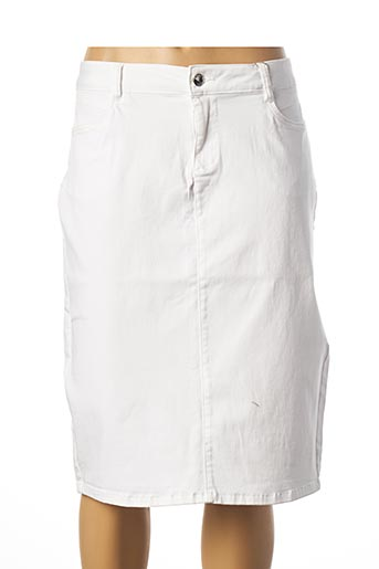 Jupe mi-longue blanc DIANE LAURY pour femme