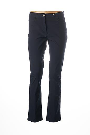 Pantalon casual bleu DIANE LAURY pour femme