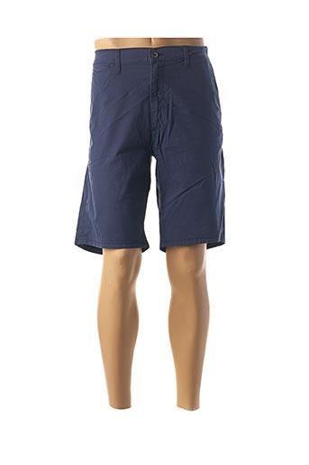 Bermuda bleu WRANGLER pour homme