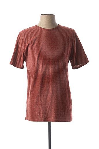 T-shirt manches courtes marron CAMEL ACTIVE pour homme