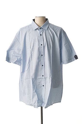 Chemise manches courtes bleu BELLONI pour homme