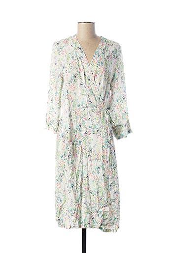 Robe mi-longue blanc EGATEX pour femme
