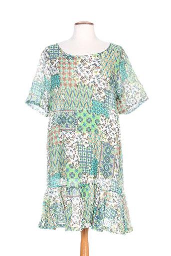 Tunique manches courtes vert G!OZE pour femme