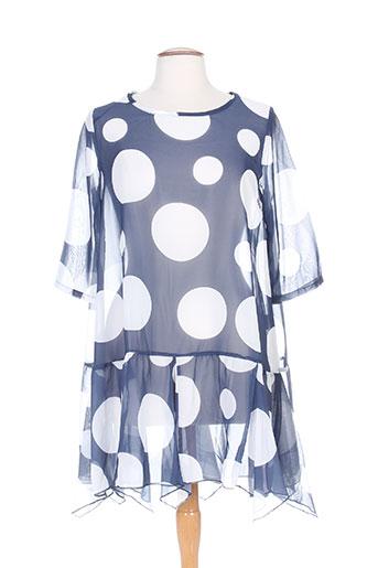 Tunique manches courtes bleu G!OZE pour femme