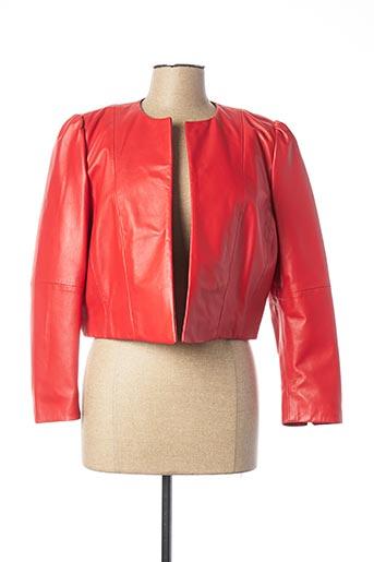 Veste en cuir rouge MARELLA pour femme
