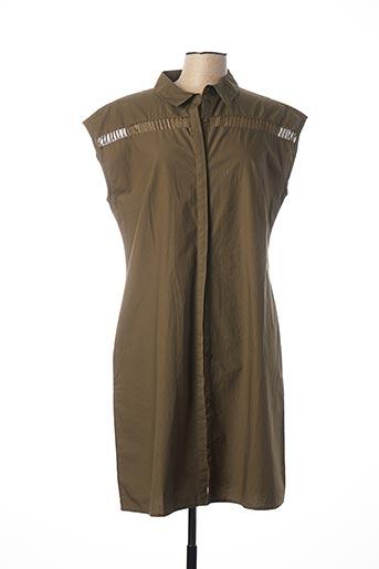 Robe mi-longue vert LE PETIT BAIGNEUR pour femme