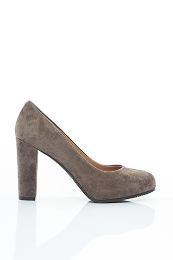 Escarpins gris EVALUNA pour femme