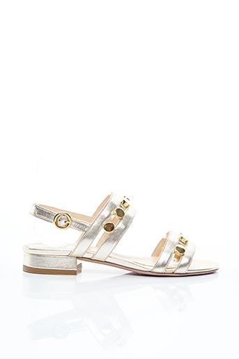 Sandales/Nu pieds jaune EVALUNA pour femme