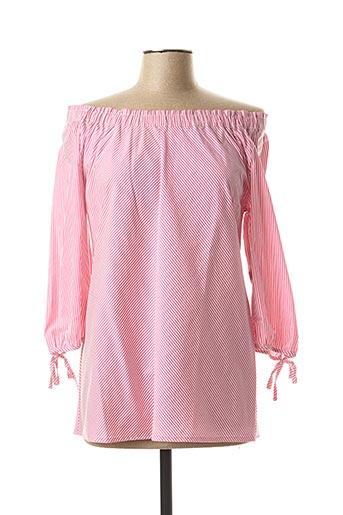 Blouse manches courtes rose BETTY BARCLAY pour femme