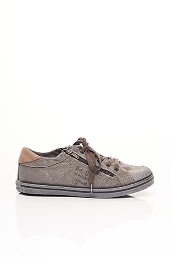 Baskets gris PALLADIUM pour garçon
