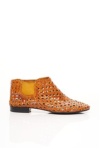 Bottines/Boots orange ELODIE BRUNO pour femme