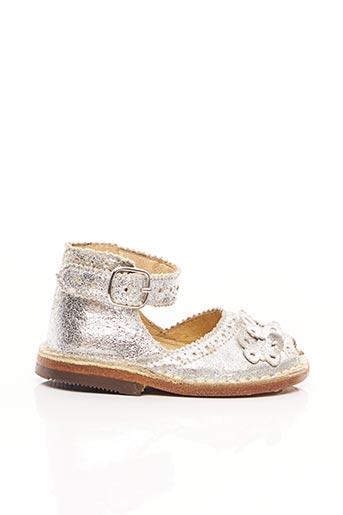 Sandales/Nu pieds gris EUREKA pour fille