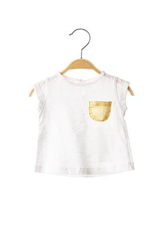 T-shirt manches courtes blanc LOUIS*LOUISE pour fille
