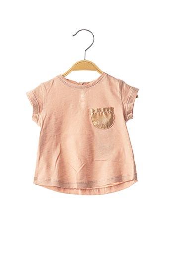 T-shirt manches courtes rose LOUIS*LOUISE pour fille