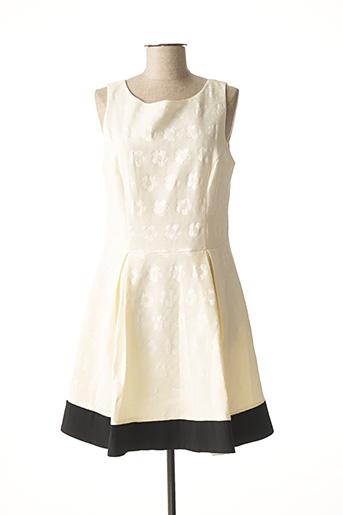 Robe mi-longue beige VOODOO pour femme