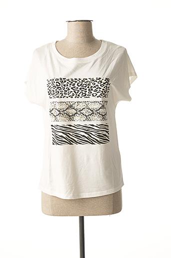T-shirt manches courtes blanc JULIE GUERLANDE pour femme