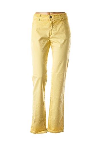 Pantalon casual jaune PIERRE CARDIN pour femme
