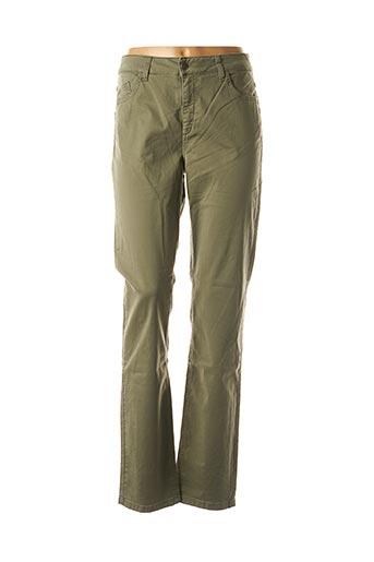 Pantalon casual vert PIERRE CARDIN pour femme