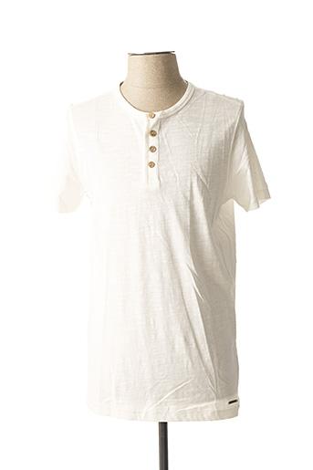T-shirt manches courtes blanc TIBET pour homme